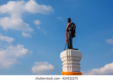 Thao Suranaree or Ya Mo statue. She is a wife of King Rama III and save the city from the invasion of the Laotian army.