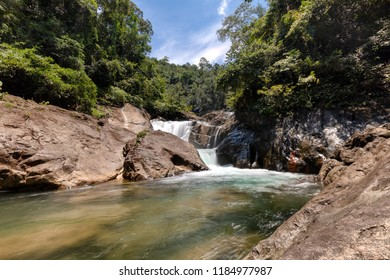 Tharn Mayom Waterfall, Koh Chang, Trat, the lush tropical forest.