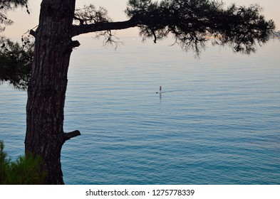 Thassos Golden Beach night view sailer