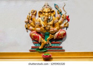 That Is God Of Success 25 Of 32 Posture Hindu God Ganesha Avatar Image In Stucco Low Relief Technique