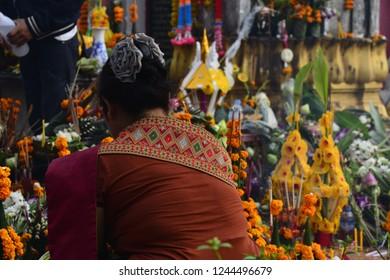 That Luang Buddhist Festival Vientiane Laos