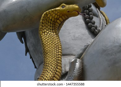 That snake was lord Shiva s jewellery in hindu mahapuran(Hindu mythology). Lord Shiva is most powerful God in hindu s mythology. Lord Shiva had most powerful weapon was pashupatastra owned by lord