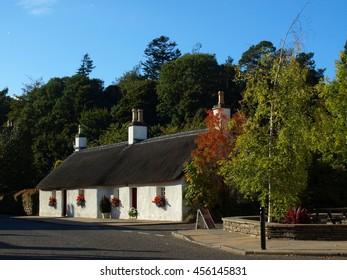 Thatched Cottage in Glamis Village, Scotland