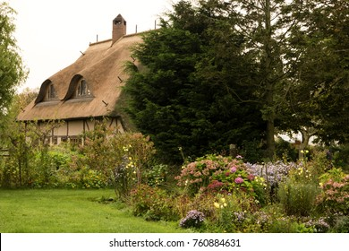 Thatched Roof House on Fischland in Germany