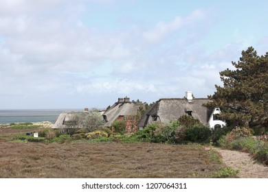 Thatched roof houses in the Braderup Heath on the North Sea island of Sylt