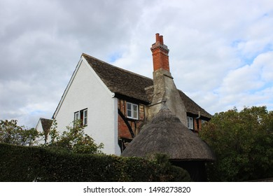 Thatched roof in rural English village