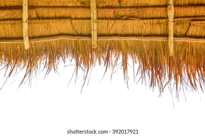 a thatch-roof on white background
