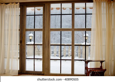 that's the first snow outside the window