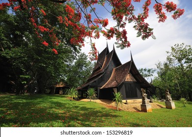 Thawan Duchanee Collection Museum or Black House in Chaing Rai, Thailand