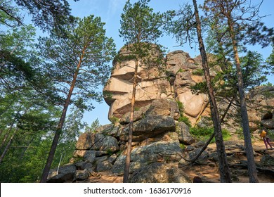"""""""The grandfather"""" rock in the Stolby Nature Reserve in Krasnoyarsk"""