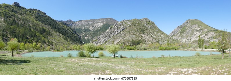 """The"""" Pas des Ondes"""" is an artificial lake for swimming and fishing located in Drome area South of  France."""