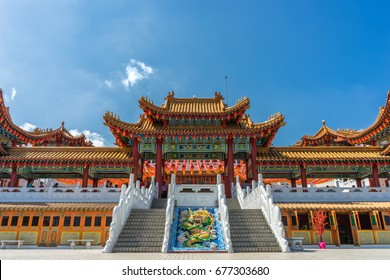 Thean Hou Temple is a famous Chinese temple in Kuala Lumpur, Malaysia, it is a syncretic temple with elements of Buddhism, Taoism and Confucianism.