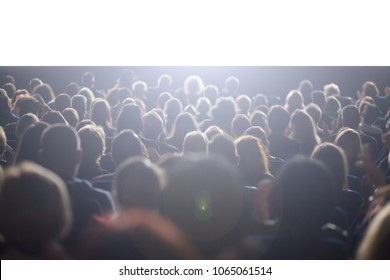 theater audience watching a performance