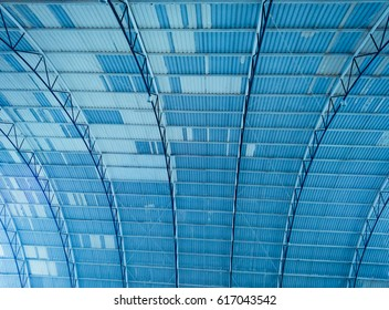 a theater ceiling blue