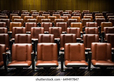 The theater chairs in concert hall.