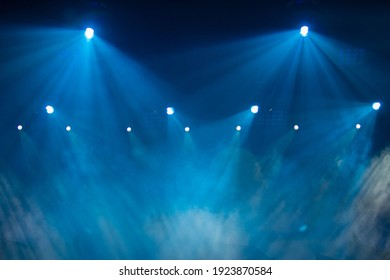 Theater and concert stage, colored smoke in stage light