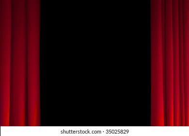 Theater curtains with copy-space
