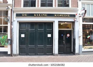 Theater Entrance De Kleine Komedie At Amsterdam The Netherlands 2018