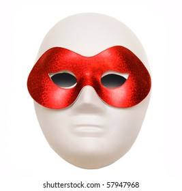 Theater mask in carnival mask isolated on a white background