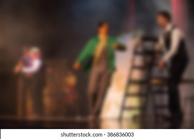Theater play theme blur background