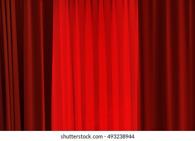 Theater red curtain as abstract entertainment background