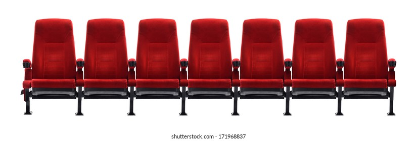 theater seat isolated on white background, movie seat