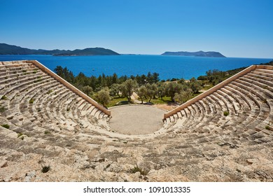 The Theatre of Antiphellos Ancient City in Kas, Antalya