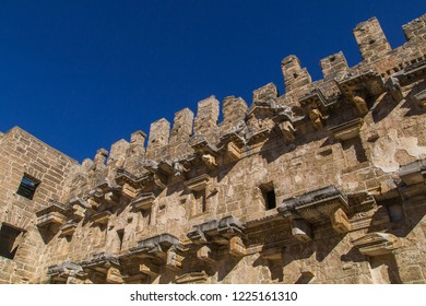 The Theatre of Aspendos Ancient City in Antalya. Founded in the 5th century BC. Scene view