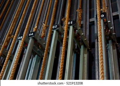 Theatre backstage ropes