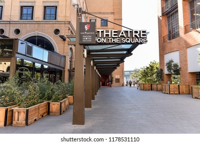 Theatre on the Square, on the Nelson Mandela Square near Sandton City, Johannesburg,  South Africa on 30th July 2018