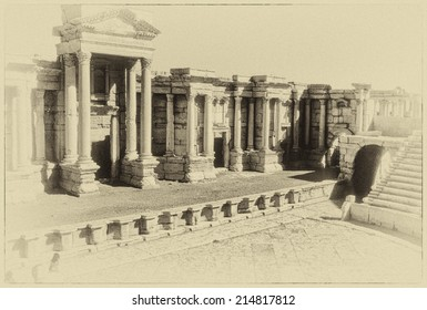 Theatre ruins of the city of Palmyra, Syria, Middle East