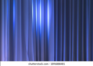 Theatrical curtain on the stage.