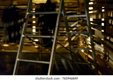 Theatrical scenery. Backgrounds