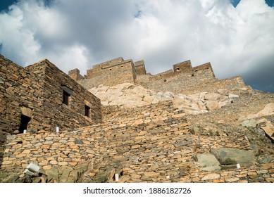 Thee Ain historical village in Al-Baha Region of Saudi Arabia. - Shutterstock ID 1886182726