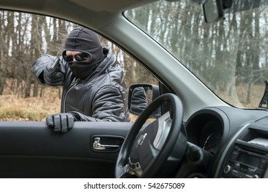 Theft of a motor vehicle.