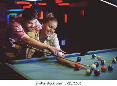 Their first date in pool game club