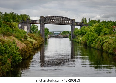 The Thelwall Viaduct is a steel composite girder viaduct in Lymm, Warrington, England.