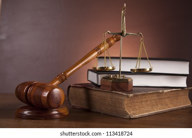 Theme of law and justice with ambient light