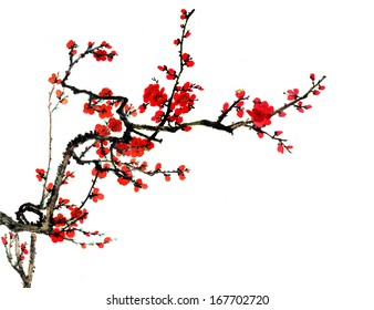 the theme of nature,Chinese element--plum blossom