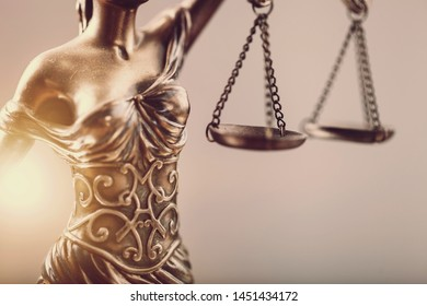 Themi symbol of justice, close-up view