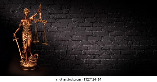 Themis Statue Justice Scales Law Lawyer Business Concept