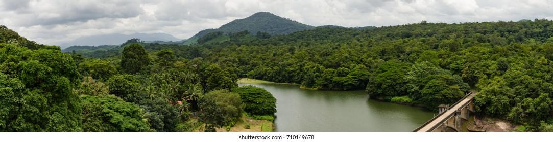Themnala, Kollam, Kerala, India : 27thAug 2017- A Scenic  View of the Mountains from Thenmala, Kollam dist, kerala, India.