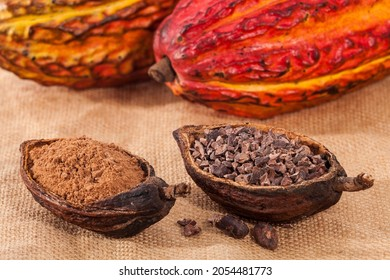 Theobroma cacao - Dried Crushed Cocoa Beans With Fruit
