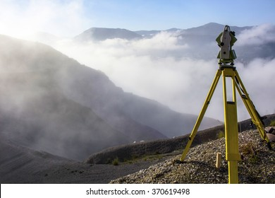 Theodolite in the mountains