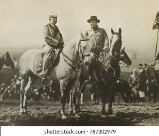 Theodore Roosevelt and Kaiser Wilhelm II during a military review at Doberitz Field, May 10, 1910. After the event, TR told his wife, Im absolutely certain now, that we are all in for its meaning