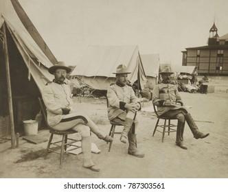 President Theodore Teddy Roosevelt PHOTO Leonard Wood Alex Brodie 1898