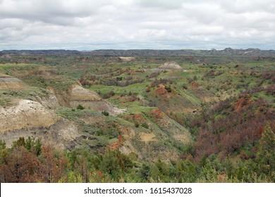Theodore Roosevelt National Park Landscape in North Dakota