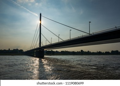 The Theodor-Heuss-Bridge in Duesseldorf, Germany