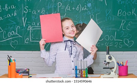 Theory and practice. Observe chemical reactions. Formal education school. Educational experiment. Back to school. School classes. Girls study chemistry in school. Biology and chemistry lessons.