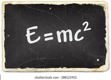 Theory of relativity on old photo paper background
